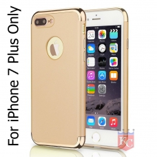 3 In 1 Ultra Thin Hard Coated Matte Surface Back Cover for Apple iPhone 7 Plus - Gold